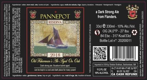 Пиво Pannepot Reserva (2018)